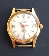 Vintage Gold Plated Swiss Made Larex Gents Watch circa 1950 / montre