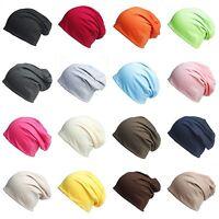Unisex Men Women Cotton Baggy Beanie Oversize Winter Hat Ski Slouchy Chic Caps