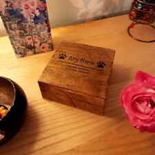Pet Urn Square Mango Ashes Pet Box Dog Urn Cat Urn Personalised 20 x 20 x 7cm