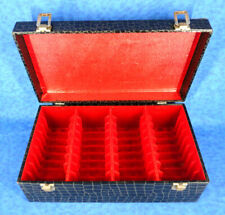 8 Track Tape Carrying Case Black Holds 36 Tapes