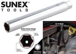 "Sunex 884505 3/8"" Drive 9/16"" Extra Deep Spark Plug Socket Tool New Free Ship"