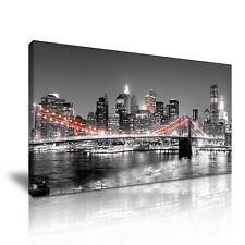 New York Canvas Wall Art Picture Print 60x30cm