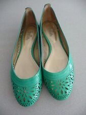 Belle by Sigerson Morrison Green Patent Leather Cutout  Flats S. 10B