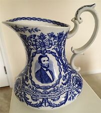 Abraham Lincoln Malice Toward None 1860s Pitcher Cauldon England Staffordshire
