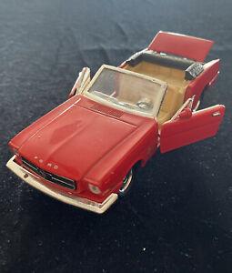 1964 1/2 Ford Mustang Ertl Convertible 1/12 American Muscle Red Die Cast Car