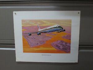 """1964 #4486 AIR AFRIQUE DOUGLAS DC-8 FAN-JET WRIGHT PRINT POSTER 16"""" X 20"""" P241"""