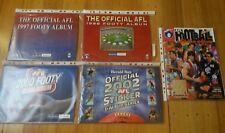 AFL HERALD SUN FOOTY ALBUMS PLUS 1999 SELECT STICKER ALBUM 5 IN TOTAL