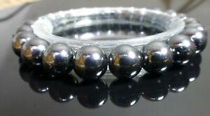 ARTHRITIS PAIN MAGNETIC HEMATITE BRACELET -  10mm beads