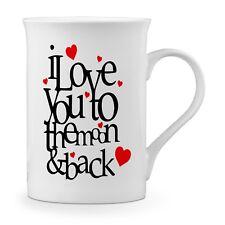 I Love You To The Moon And Back Hearts Novelty Gift Fine Bone China Mug