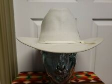 EDDY Bros Cowboy Hat 7  Light Silver 2X Wool Blend Ribbon Hat Band With Feather