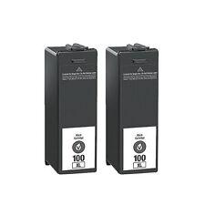 100XL Black Ink Cartridge for Lexmark Prestige Pro805 Prevail Pro705 - 2 Pack