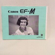 CANON EF-M INSTRUCTION BOOK