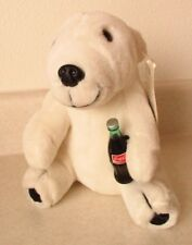 Play By Play Coca-Cola Brand 1995 Polar Bear Plush Holding Bottle Collectible