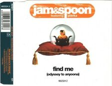 Jam & Spoon Featuring Plavka ‎Maxi CD Find Me (Odyssey To Anyoona) - England (