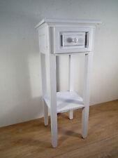 Telefontisch  Beistelltisch  Pflanzentisch - Holz -  weiß  - Shabby  wirkt alt