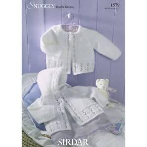 Sirdar Baby Knitting Pattern Matinee Coats  - 1579 - Double Knit DK