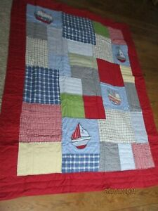 NEXT BOYS NEW LIGHTWEIGHT PATCHWORK BOAT THROW FOR BED