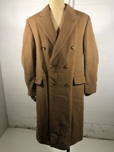 SAVOY TAYLORS GUILD Double Breasted Camel Tone Overcoat 40R Moss Bros