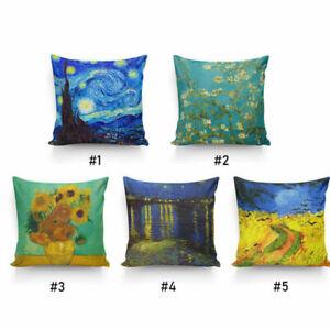 Painting By Vincent Van Gogh High Quality Silk Pillowcase Decor Cushion Cover