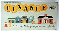 Finance Board Game 1962 Parker Brothers Business Money Complete Ships Next Day