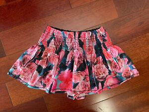 Lululemon Floral Hot Hitter Skort Secret Garden Pockets Pink Roses Womens Sz 2