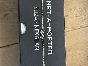 14k yellow gold Kalan by Suzanne Kalan bracelet Net A Porter $620 Diamond Topaz