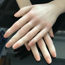 Silicone Female Hand Model  practice  Jewelry Props Finger Manicure nail 1PC