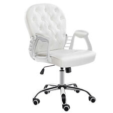 Home Button Back Office Chair Computer Desk Swivel Chair-white JL Comfurni