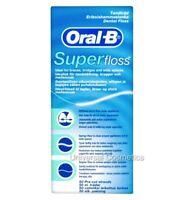 Oral B Super Floss Dental Braces Wide Spaces 50 Pre-Cut Pre Cut Strands ORIGINAL