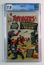 1965 Marvel Comics Avengers 15 CGC 7.0: Kirby Captain America,Iron Man,Thor,Zemo