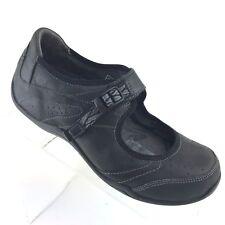 Ahnu Benicia Mary Jane Black Leather Locking Strap Sport Shoe Womens SIZE US 7