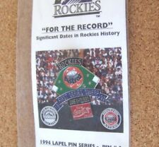 1994 Colorado Rockies #3 pin Coca Cola 7-11 pin 1st Series Sweep Houston Astros