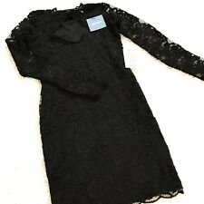 Misguided Dress Sz 2 Black Lace High Neck Long Sleeve Bodycon Womens Nordstrom