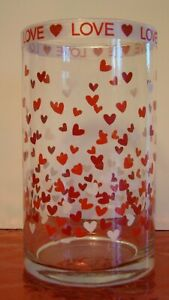 Glass Vase Handcrafted with Hearts Wedding/Engagement/Centerpiece)
