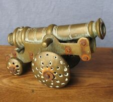 Unusual brass model of a cannon
