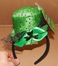 "St.Patricks Day Irish Green Shamrock Headband Hat 5"" x 4"" Lightweight 103O"
