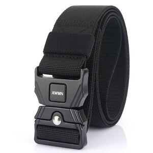 "1.5"" Quick Release Tactical Belt Mens Heavy Duty Stretch Webbing Belts Outdoor"
