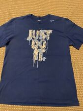NIKE Regular Fit Blue Just Do It Swoosh T-Shirt - XL