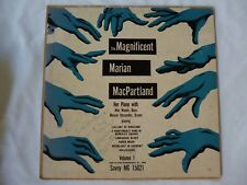 """Extreme Rare- Marian McPartland Personal autographed 10"""" LP HAS Wrong Spelling!"""