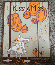 "[COL] Vintage Sheet Music ""Kiss a Miss,"" by Cal de Voll & Jack Yellen (1920)"