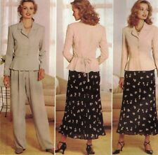 4449 Butterick Sewing Pattern Donna Ricco Peplum Top Skirt Pants Size 18-20-22