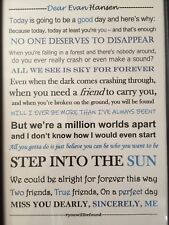 Dear Evan Hansen Quote dictionary page art print gift book musical
