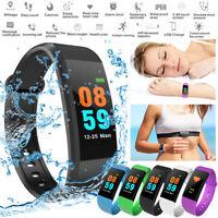 Bluetooth Smart Bracelet Sport Watch Heart Rate Monitor Blood Pressure Pedometer
