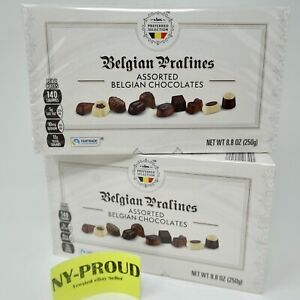 2 Boxes * Belgian Pralines Assorted Premium Deluxe Chocolate (8.8 Oz Each Box)