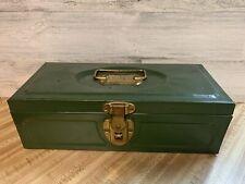 Vintage Master Metal Green Tool Tackle Box