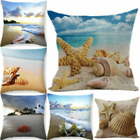 Cotton Linen Sea Creature Pillow Case Car Bed Sofa Decor Waist Cushion Cover