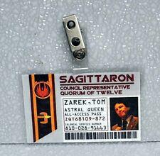 Battlestar Galactica ID Badge-Sagittaron Quorum Of TwelveTom Zarek