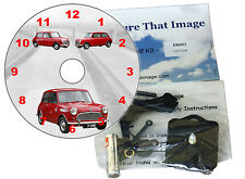 DIY CD Clock KIT. Austin Seven. Wall or Desk Clock. Mini car.