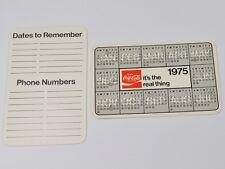 Coca cola Coca cola USA Calendario tascabile Calendario Pocket calendario 1975