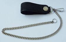 Stingray Leather Biker Belt Chain/Hook/Spring Ring, 5mm Biker Wallet Belt Chain